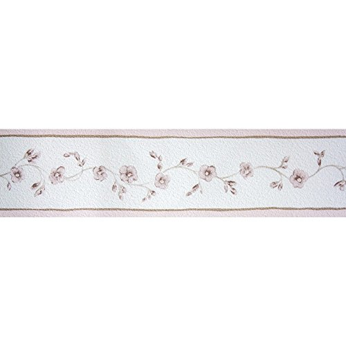 Tapetenbordüre Borte Blumen Ranken rosa Petite Fleur 285528