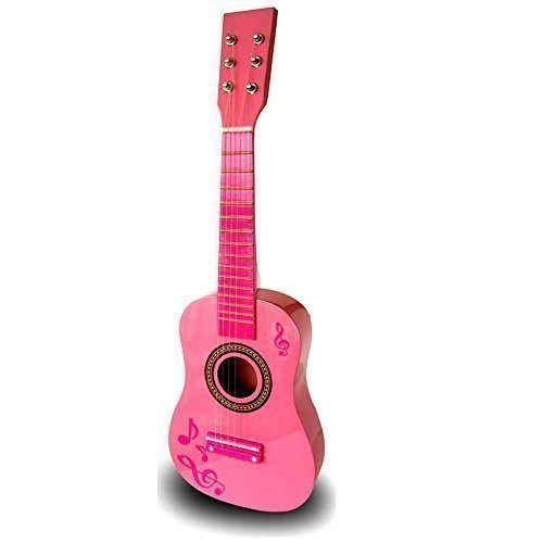 23-childrens-girls-wooden-acoustic-guitar-musical-instrument-pink-toy-xmas-gift