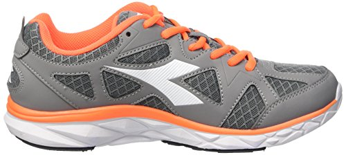 Diadora Hawk 5, Gymnastique mixte adulte Multicolore - Multicolore (C2418 Grigio/Arancio)