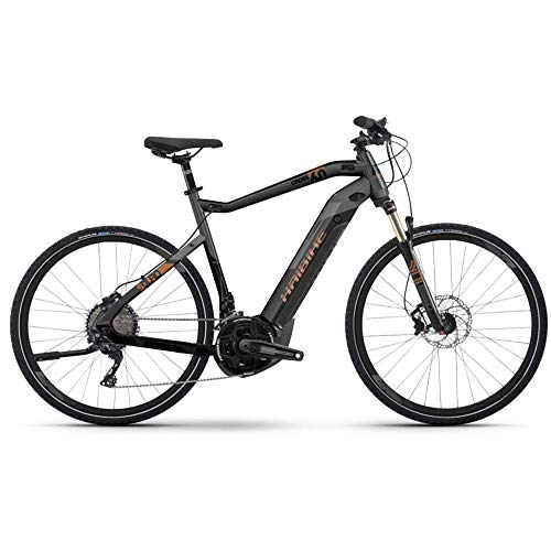 Haibike SDURO Cross 6.0 Herren i500Wh 20-G XT YCM S schwarz Titan Bronze E-Bike