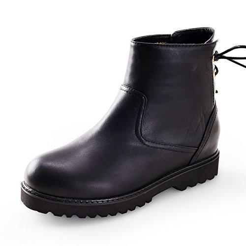 Mode d'hiver Martin bottes/Cravate épaisse semelle chaussures plates C
