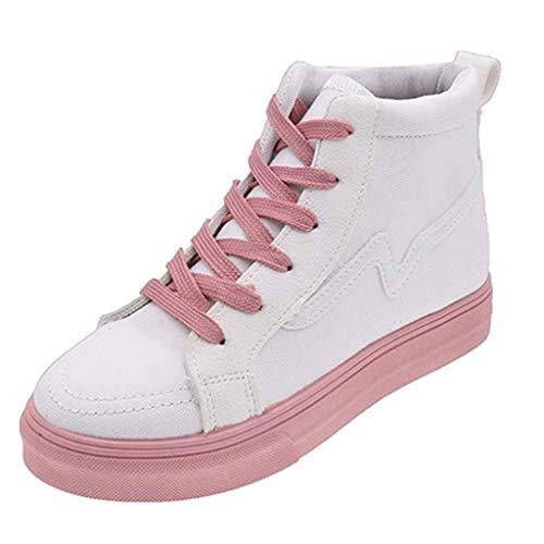 HDUFGJ Damen Espadrilles Kopf Canvas Erhöhen SchuheHohe Hilfe Freizeitschuhe Flache Schuhe Sneaker Atmungsaktiv Sommer Fitnessschuhe Flache Schuhe Outdoor-Schuhe Laufschuhe 35(Weiß) - Damen Schuhe Neueste Nike