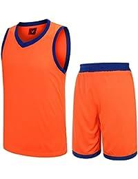 Astage Hombre Joven Camiseta Pantalones Cortos Baloncesto Fútbol Traje  Deporte Naranja S b4cb78fd7a28b