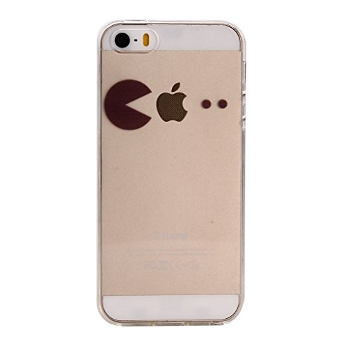 Cover Per iPhone 5C,Hippolo Custodia Protettiva Shell Case Cover Per iPhone 5C in Silicone TPU (Per iPhone 6/6S, 2) 6