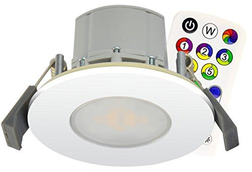 Müller-Licht Einbaudownlight RGB mit 8 W IP44 Anschlussfertig, warmweiß 57024