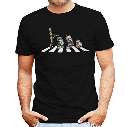TeeTrumpet Star Wars Beatles Abbey Road Droids Mark II Men's T-Shirt