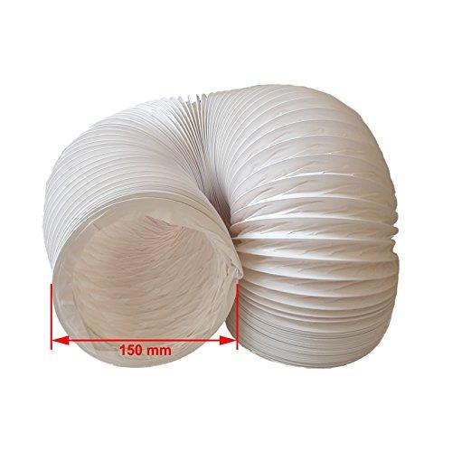daniplus Abluftschlauch PVC Flexibel Ø 150 mm, 4 m z.B. für Klimaanlagen, Wäschetrockner, Abzugshaube