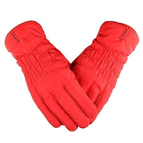 MOMO Touchscreen Handschuhe wasserdichte Handschuhe Männer und Frauen Stil Reiten Winterkleidung,Gules Thermisches Radfahren-handschuhe Frauen