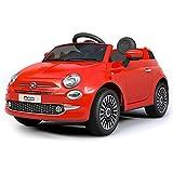 giordano shop Macchina Elettrica Per Bambini 12V Fiat 500 Rossa