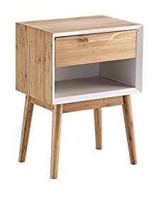 Wink design,Liepaja, Comodino / Tavolino, Legno, Marrone, 58 x 42 x 30 cm