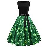 Damen 50er Jahre Audrey Hepburn Vintage Kleid Rockabilly Cocktail Partykleid Polka Dot