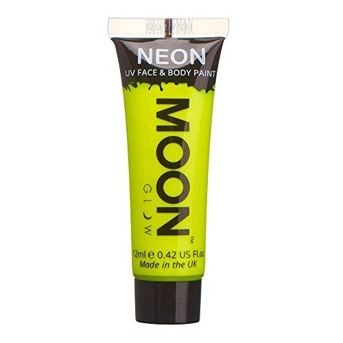 Moon Glow – Intensiv Neon UV Körperfarben Bodypaint - 12ml Gelb