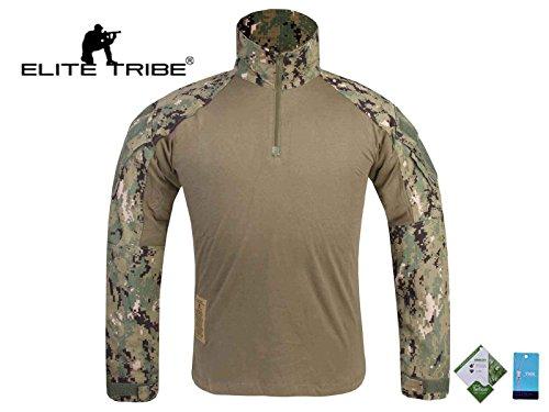 Herren Militär Paintball Jagd Bdu Combat Shirt Tactical Gen3Aor2, AOR2 - Militärische Bdu Shirt