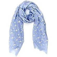 24f829e222e772 MANUMAR Schal für Damen | Hals-Tuch in verschiedenen Farben mit Sterne  Motiv als perfektes