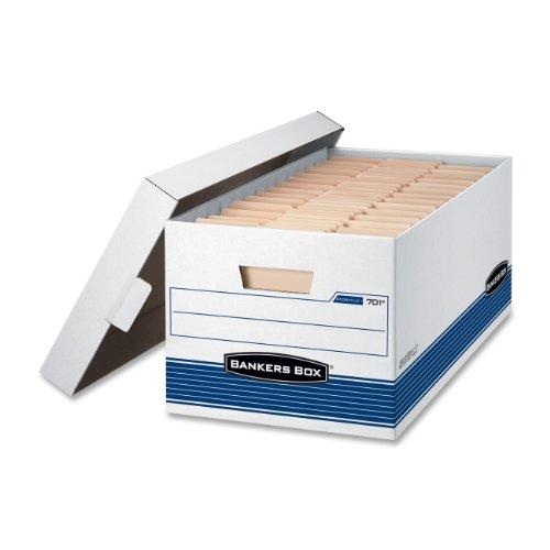ttelschweren Aufbewahrungsboxen mit Lift-off Deckel, Buchstabe 12-Pack weiß / blau (Datei-boxen Mit Deckel)