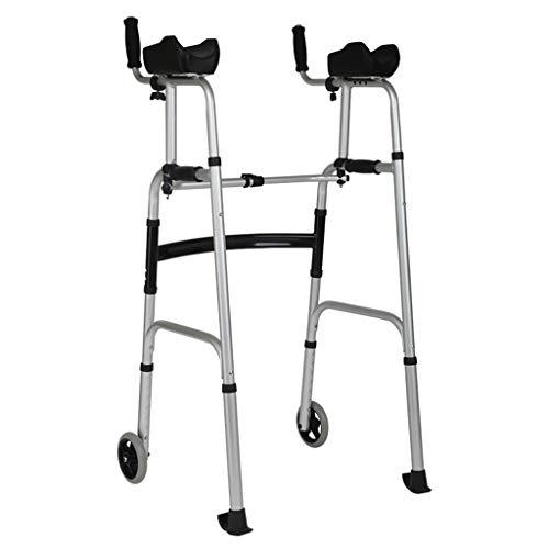 Peixia corrimano di sicurezza, deambulatore, bracciolo per anziani, ausilio per deambulazione, bastone da passeggio a quattro zampe disabili, pieghevole, a piedi, riabilitazione, con sedile
