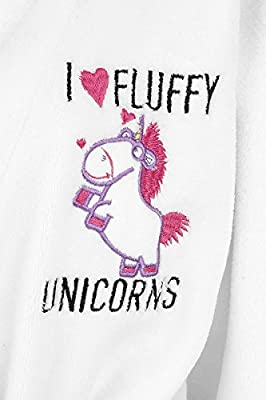 Minions I Love Fluffy Unicorns Peignoir blanc/rose