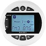 Herdio Receptor estéreo impermeable del indicador marino Bluetooth,Reproductor de MP3 de medios digitales, con transmisión de