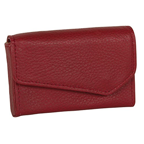 Buxton Womens Unisex Leather Business Card Case Wallet