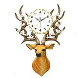 CHESUN Deer Head Creative Clock High End Luxury Silent Quartz-Bewegung Shell Mirror Resin Material Study Office Bedroom Living Room 24 Zoll