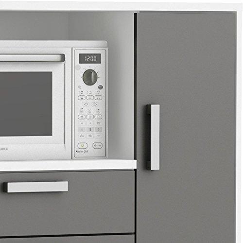Moderner Küchenschrank #8540 Weiß Grau Miniküche
