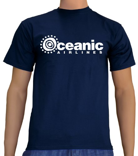 Touchlines Unisex/Herren T-Shirt Oceanic Airlines - Lost Dharma, navy, M, (Katze Penny Big Bang Kostüm)