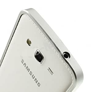 Ultra Thin Aluminum Metal Bumper Case Cover for Samsung Galaxy Grand i9082 - Silver