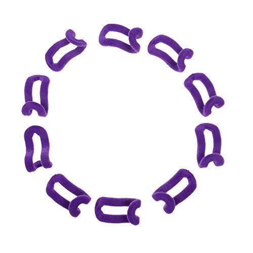 10pcs-mini-flocado-percha-suspension-de-clips-ganchos-de-terciopelo-purpura-taille-unique