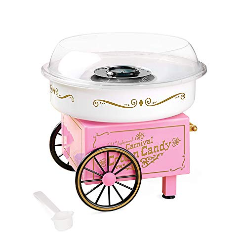Rosa Baumwolle Candy Maschine, Grade Candy Floss Maker, Vintage Hard Sugar-Free Cotton Candy Maker, mit 1 Zucker Scoop, für Geburtstag Party liefert Lebensmittel Grade sicher