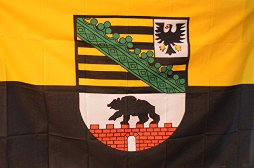 SCAMODA Bundes- und Länderflagge aus wetterfestem Material mit Metallösen (Sachsen-Anhalt) 150x90cm