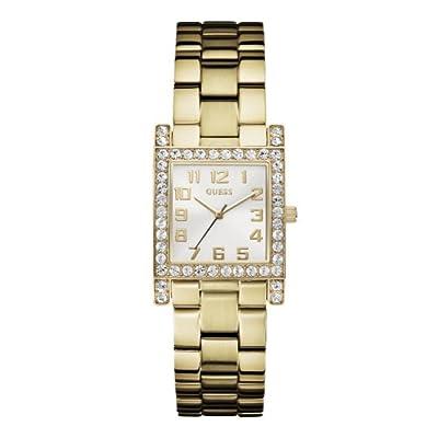 Guess W0128L2 - Reloj analógico de cuarzo para mujer con correa de acero inoxidable bañado, color dorado