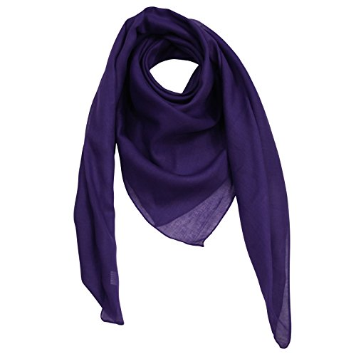 Freak Scene Pañuelo de algodón ° violeta-púrpura oscuro ° Pañuelo cuadrado para el cuello