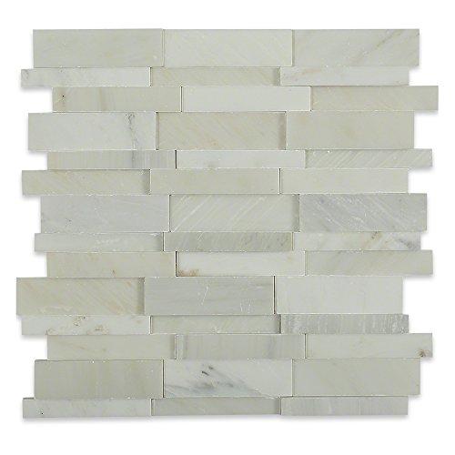 Brick-mosaik-fliesen-böden (Splashback Tile dimension3dbrickasianstatuary Dimension 3d Brick Asiatische Statuen Muster 30,5cm X 8mm MARMOR MOSAIK Boden und Wand Fliesen)