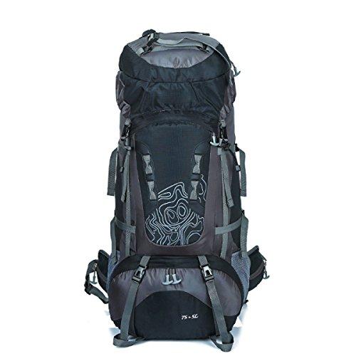 60l Wandern Rucksack Daypack Klettern Reisen Rucksack Casual Bag,Blue Black