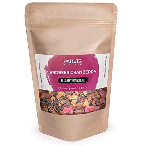 Paulis Kitchen Erdbeer Cranberry Früchtetee - Tee für Kinder (140)