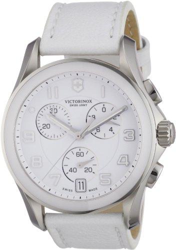Victorinox-Swiss-Army-Reloj-analgico-de-cuarzo-para-hombre-con-correa-de-piel-color-blanco