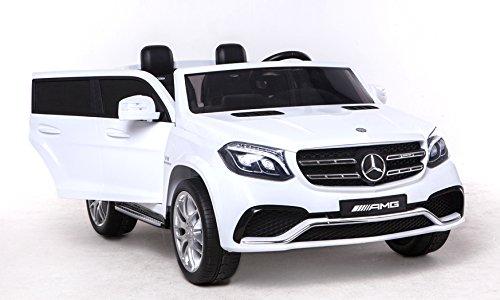 z GLS 63 Weiss Elektrisches Auto für Kinder, Elektro Spielzeugauto - 2.4Ghz, 24V, 4 X Motor, Fernbedienung, 2-Sitze in Leder, Soft Eva Räder ()