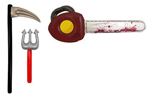 latable Devil Fork, Chainsaw & Scythe Fancy Dress Accessory (Scythe Halloween)