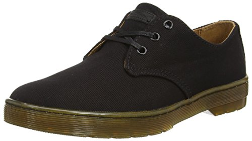 Dr. Martens Delray Twill Canvas Black, Derby homme