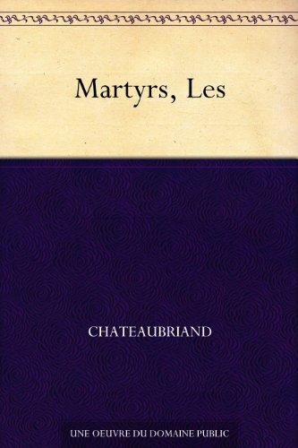 Couverture du livre Martyrs, Les