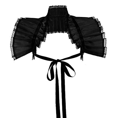 GRACEART Viktorianische Verstimmen Hals Bolero Kragen (Schwarz) (Mittelalterliche Kostüm Korsett)