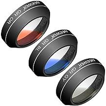 Neewer 3 Pièces Kit de Filtres de Couleurs Gradué (Gris, Orange, Bleu) pour DJI Mavic Pro Drone Quadcopter, en Alliage d'Aluminium et Résine