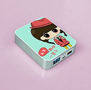 joli 10400mah powerbank chargeur de t l phone portable mignon cartoon animation pour fille. Black Bedroom Furniture Sets. Home Design Ideas