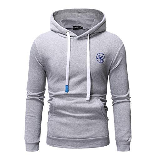 Huaya Herren Lange Ärmel Beiläufig Sweatshirt Hoodies Oben Bluse Trainingsanzüge