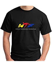 New WTF World Taekwondo Federation Symbol Short Sleeve Black Mens T-Shirt