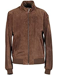 CL - Gucci Brown Leather Bomber Jacket Coat Size 50 / 40R U.S.