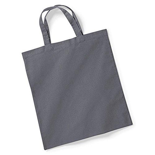 Westford Mill bag for Life manici corti 18tubolare Hoop lunghezza manico 40cm 100% cotone, 100% Cotone, Graphite Grey, taglia unica