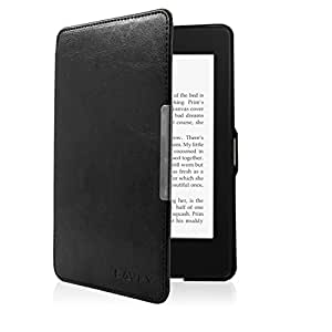Kindle Paperwhite Case,SAVFY Lightest and Thinnest Protective PU Leather Cover with Auto Sleep Wake Function For Amazon All New Kindle Paperwhite(Fits 2015 New 300PPI,2014,2013,2012),Black