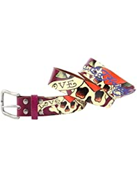 Ed Hardy EH3134 Love Kills with Studs Girls-Leather Belt
