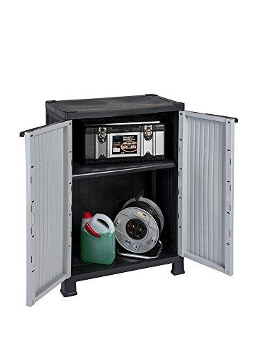 Kunststoffschrank der NOBLE-Serie mit einem verstellbaren Einlegeboden und 20kg Tragkraft - mittlere Version